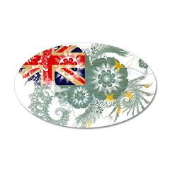 Tuvalu Flag 22x14 Oval Wall Peel