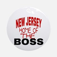 New Jersey Home of Round Ornament