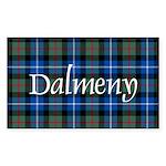 Tartan - Dalmeny Sticker (Rectangle 50 pk)