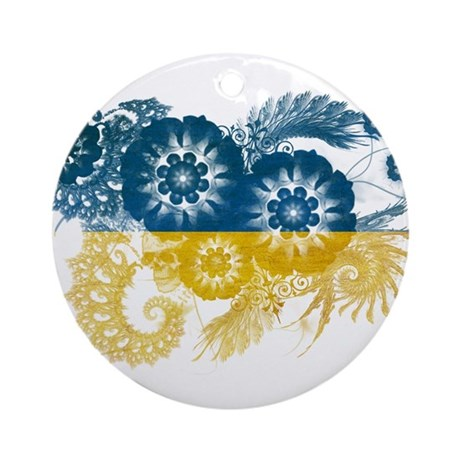 Ukraine Flag Ornament (Round)
