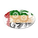 United Arab Emirates Flag 38.5 x 24.5 Oval Wall Pe