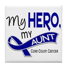 My Hero Colon Cancer Tile Coaster