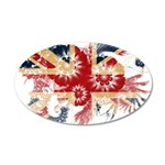 United Kingdom Flag 38.5 x 24.5 Oval Wall Peel