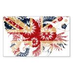 United Kingdom Flag Sticker (Rectangle 50 pk)