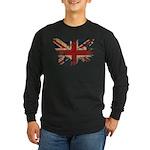 United Kingdom Flag Long Sleeve Dark T-Shirt