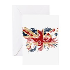 United Kingdom Flag Greeting Cards (Pk of 10)