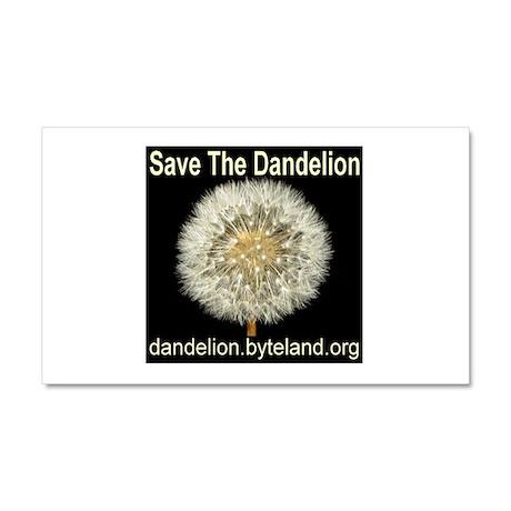 Save The Dandelion Car Magnet 20 x 12
