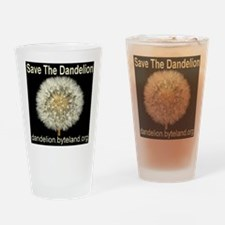 Save The Dandelion Drinking Glass