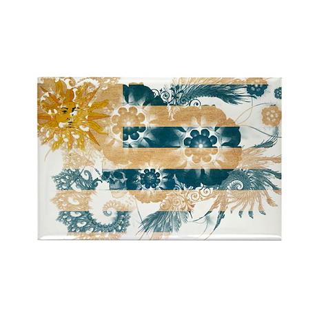 Uruguay Flag Rectangle Magnet (100 pack)