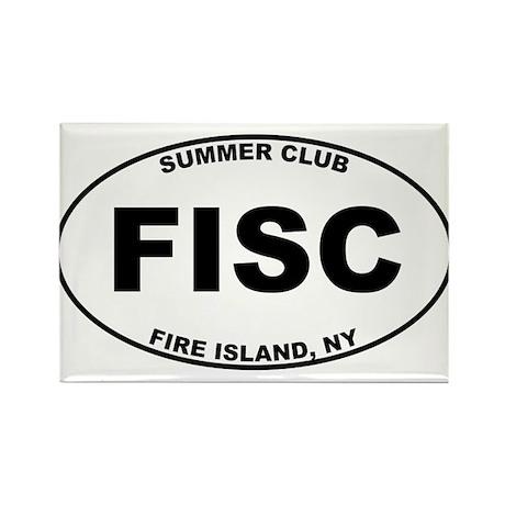 Fire Island Summer Club Rectangle Magnet (100 pack