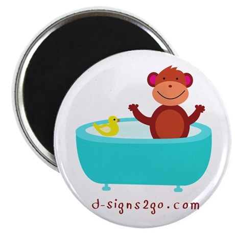 "Monkey with Rubber Duck 2.25"" Magnet (100 pack)"