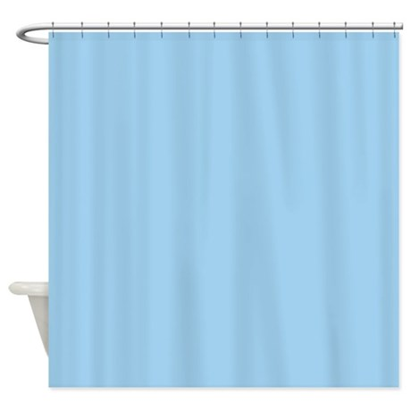 Painted Circles Cornflower Blue Shower Curtain By