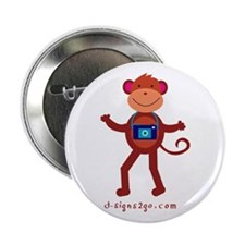"Monkey Photographer 2.25"" Button"
