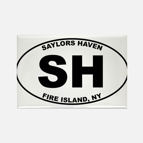 Saylors Haven Fire Island Rectangle Magnet