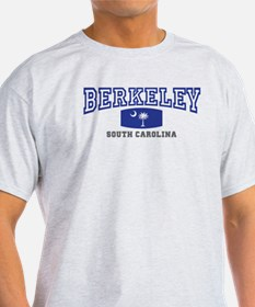 Berkeley South Carolina, SC, Palmetto Flag T-Shirt