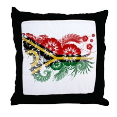 Vanuatu Flag Throw Pillow