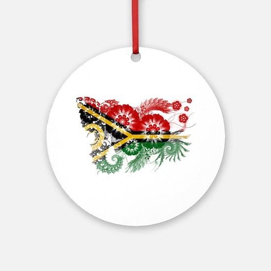 Vanuatu Flag Ornament (Round)
