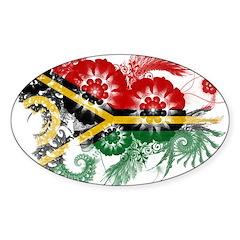 Vanuatu Flag Sticker (Oval)