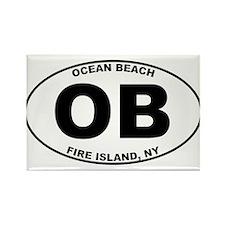 Ocean Beach Fire Island Rectangle Magnet