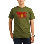 Vietnam Flag Organic Men's T-Shirt (dark)