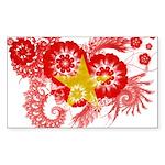 Vietnam Flag Sticker (Rectangle 50 pk)