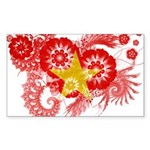 Vietnam Flag Sticker (Rectangle 10 pk)