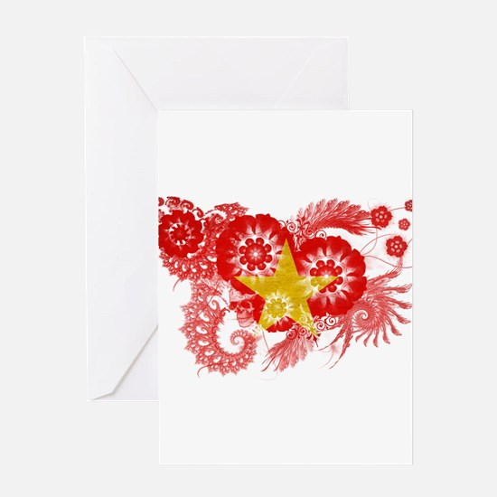 Vietnam Flag Greeting Card