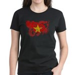 Vietnam Flag Women's Dark T-Shirt
