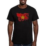 Vietnam Flag Men's Fitted T-Shirt (dark)