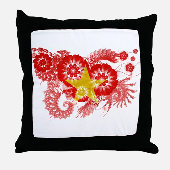 Vietnam Flag Throw Pillow