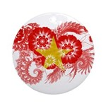 Vietnam Flag Ornament (Round)