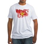 Vietnam Flag Fitted T-Shirt