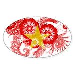Vietnam Flag Sticker (Oval)