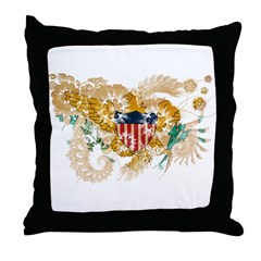 Virgin Islands Flag Throw Pillow