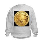 Black-Gold Buffalo Kids Sweatshirt