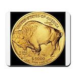 Black-Gold Buffalo Mousepad