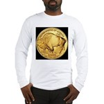 Black-Gold Buffalo Long Sleeve T-Shirt