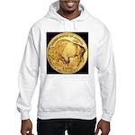 Black-Gold Buffalo Hooded Sweatshirt