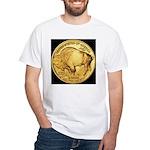 Black-Gold Buffalo White T-Shirt