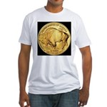 Black-Gold Buffalo Fitted T-Shirt
