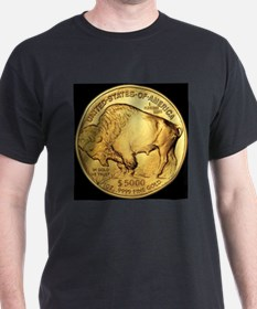 Black-Gold Buffalo Black T-Shirt