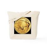 Black-Gold Buffalo Tote Bag