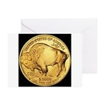 Black-Gold Buffalo Greeting Cards (Pk of 10)