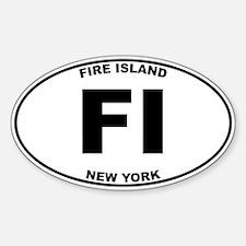 Fire Island Sticker (Oval)