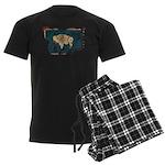 Wyoming Flag Men's Dark Pajamas
