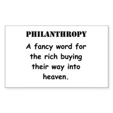 Philanthropy Rectangle Decal