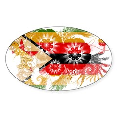 Zimbabwe Flag Sticker (Oval 10 pk)