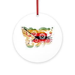 Zimbabwe Flag Ornament (Round)