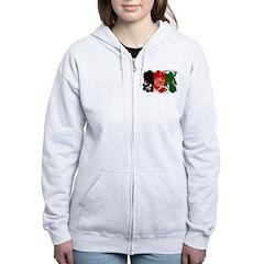 Afghanistan Flag Zip Hoodie