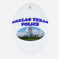 Dallas PD Skyline Ornament (Oval)
